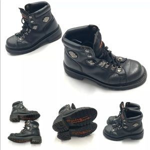 Harley Davidson Leather Motorcycle Boots Size 8